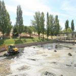 Limpieza lago de Tres Cantos