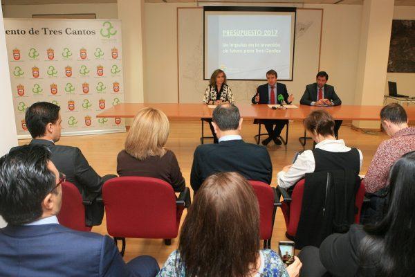 Presupuestos 2017 Ayuntamiento de Tres Cantos