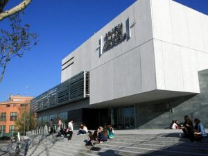 Puerta biblioteca Lope de Vega Tres Cantos