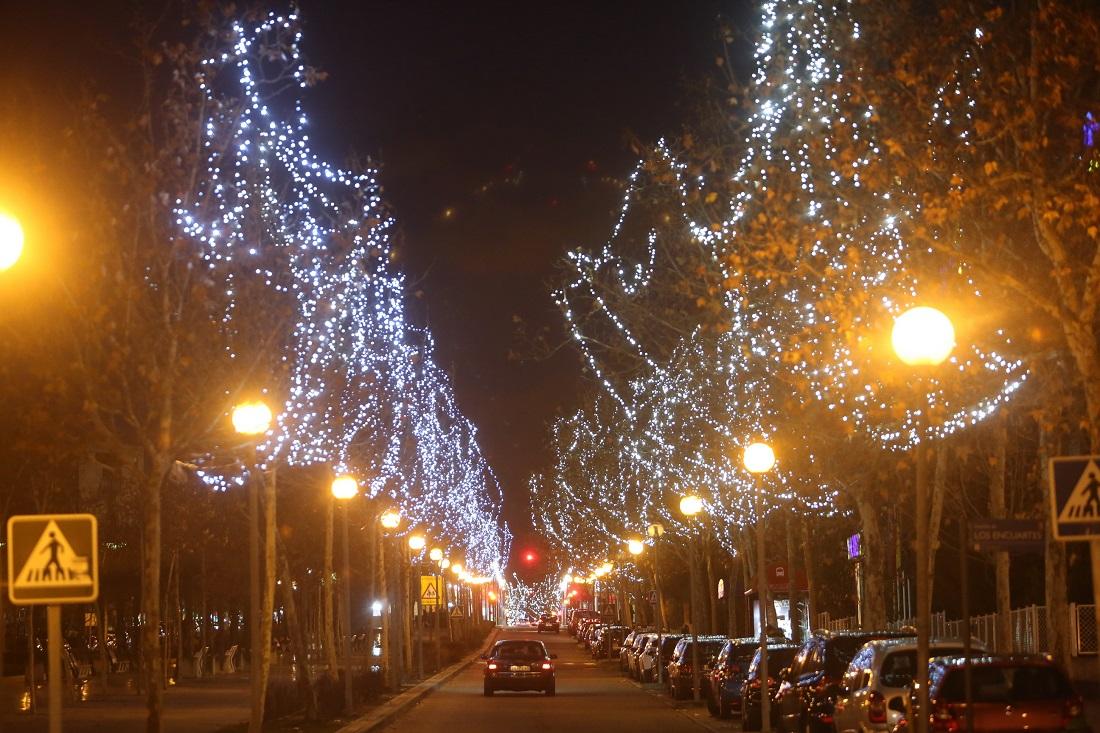 Luces navidadeñas Tres Cantos
