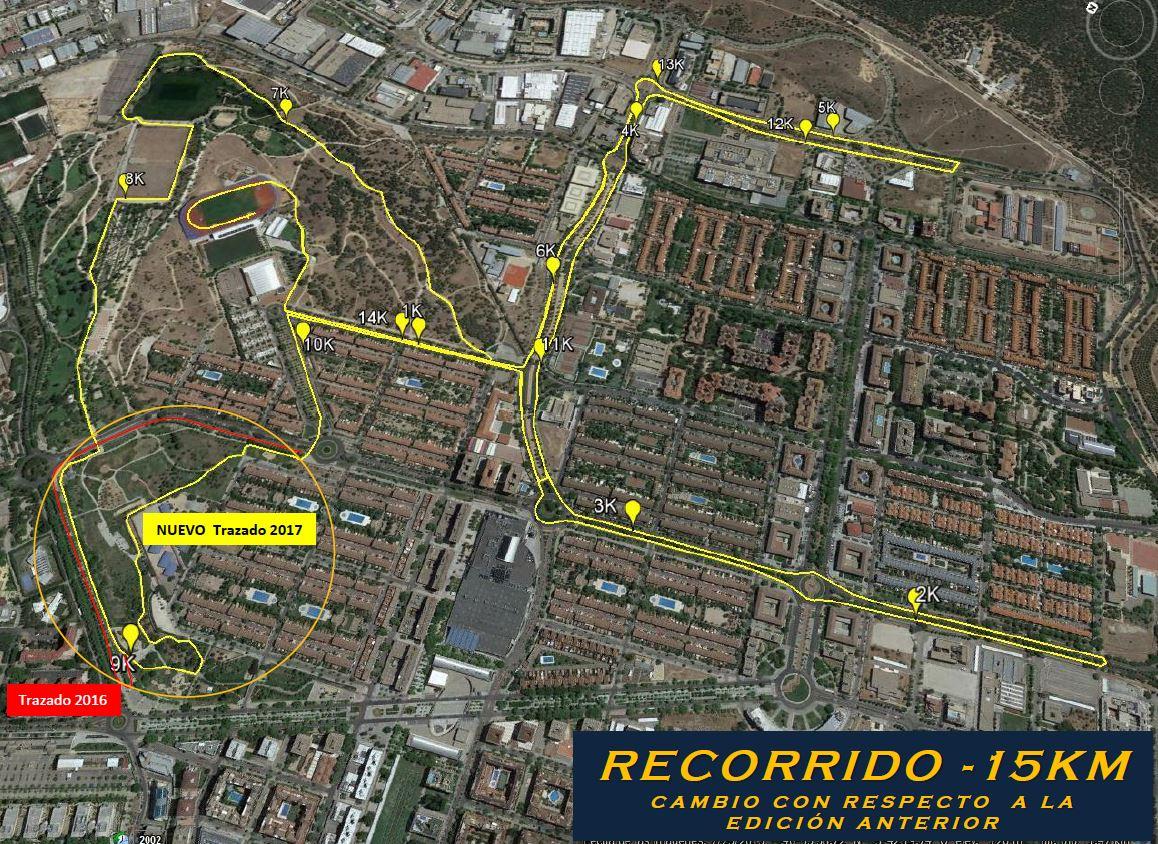 Recorrido XXI Vuelta Pedestre a Tres Cantos