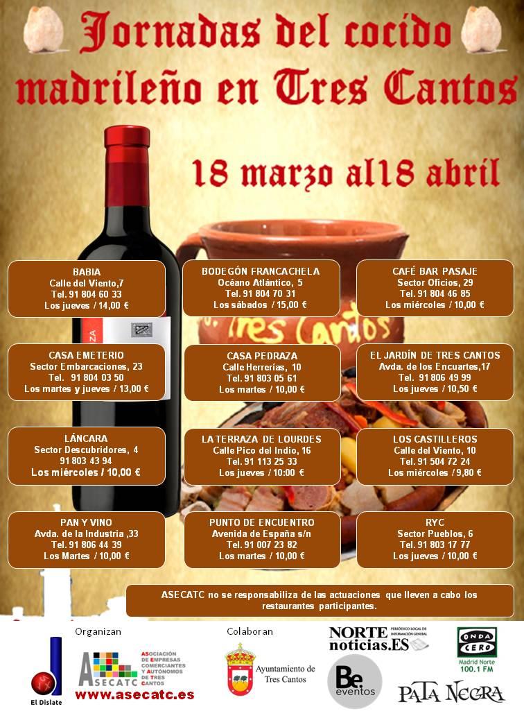 Jornadas del Cocido Madrileño en Tres Cantos