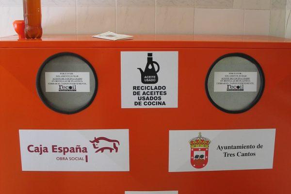 Convenio para el reciclaje aceite doméstico en Tres Cantos