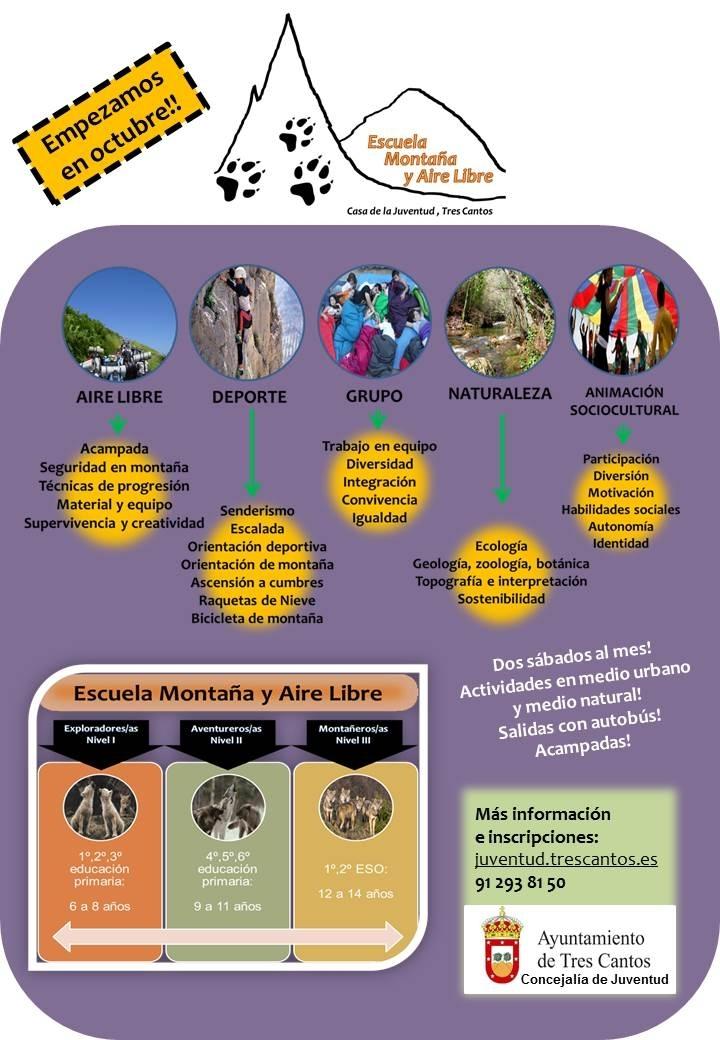 Cartel Escuela montana Tres Cantos