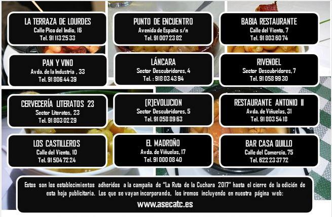 Restaurantes ruta de la cuchara Tres Cantos