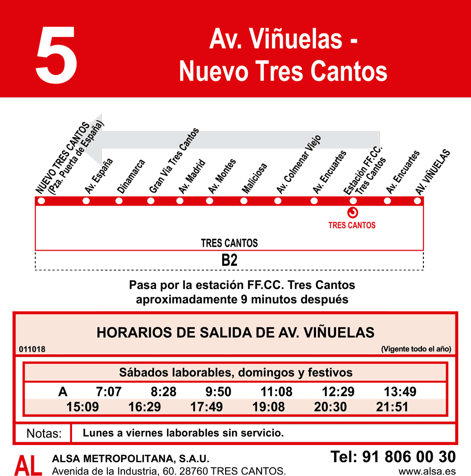 Línea 5 Av. Viñuelas-NTC