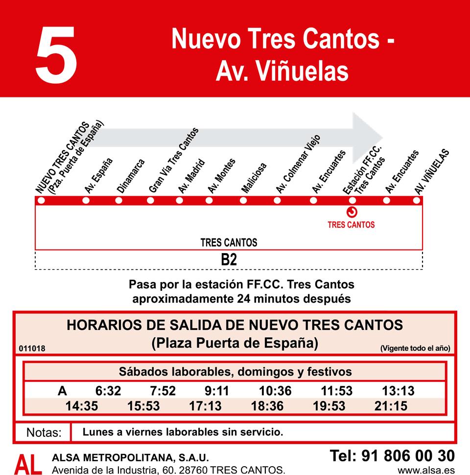 Línea 5 NTC-Av. Viñuelas