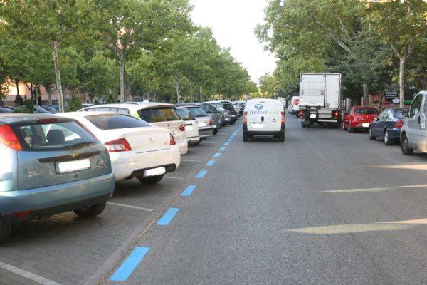 Zona Azul en la Avenida de Colmenar de Tres Cantos