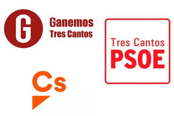 Ciudadanos, PSOE y Ganemos Tres Cantos