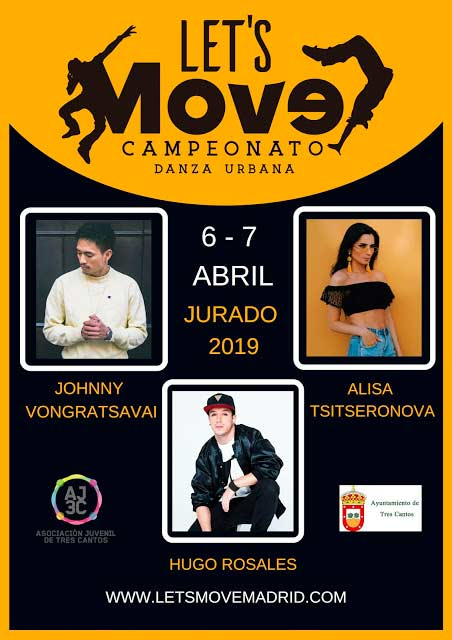 Campeonato nacional de danza urbana Lets Move en Tres Cantos