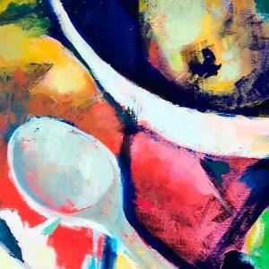 Exposición: Piedras, pigmentos y cucharas