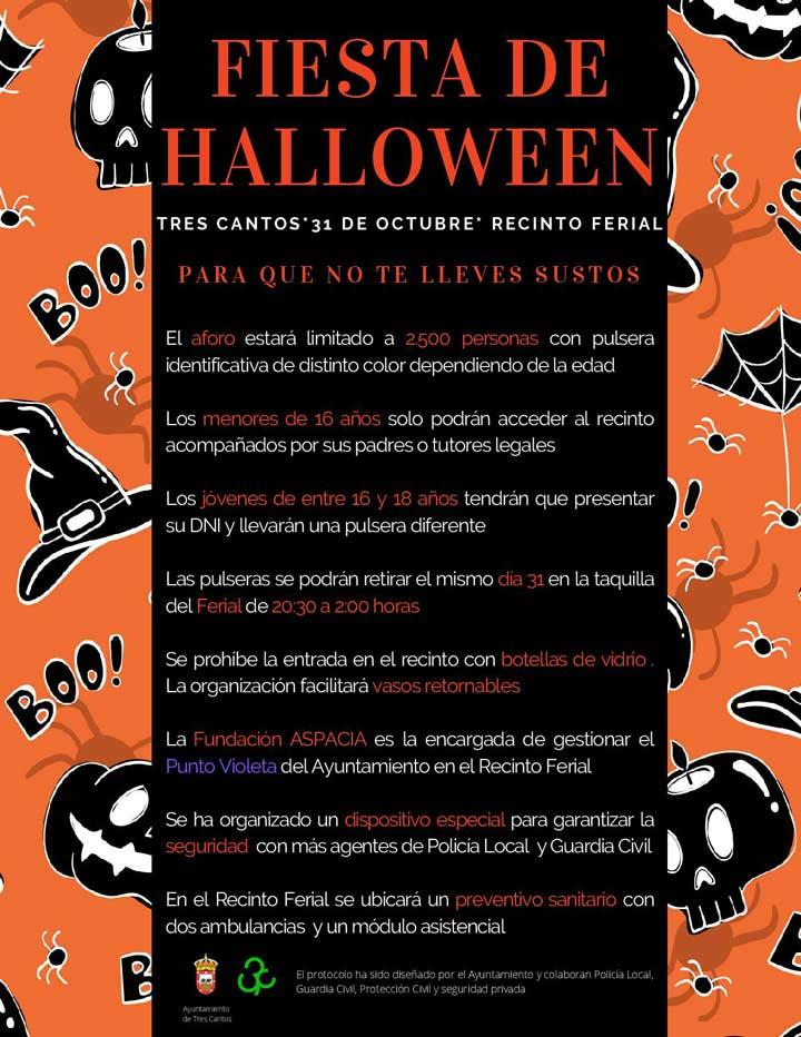 Protocolo seguridad Fiesta Halloween Tres Cantos