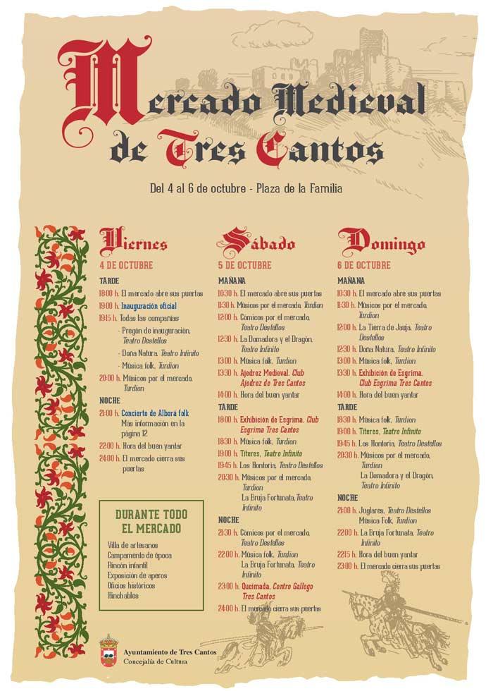 Programa Mercado Medieval de Tres Cantos 2019