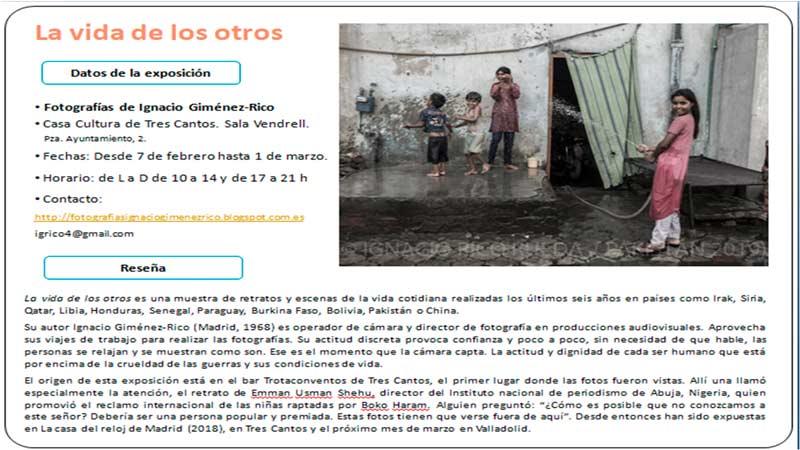 Exposición fotográfica LA VIDA DE LOS OTROS