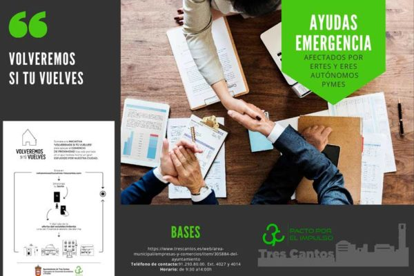 Campaña informativa ayudas emergencia comercios Tres Cantos