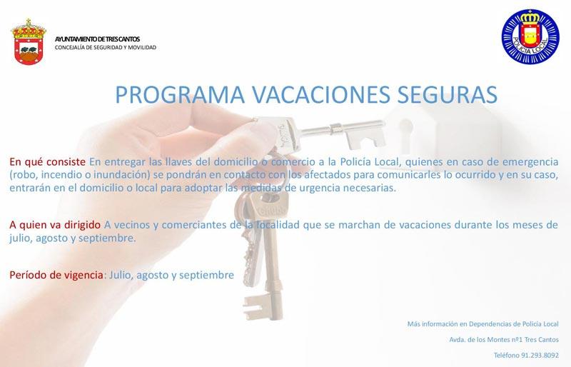 Campaña Policía Local 'Vacaciones seguras' en Tres Cantos