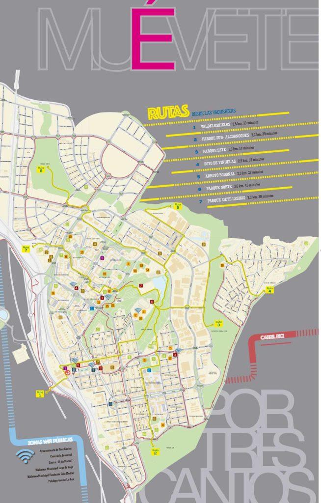 Mapa 'Muévete por Tres Cantos'