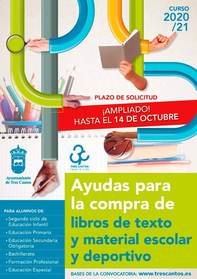 Ampliación solicitud ayudas compra libros de texto