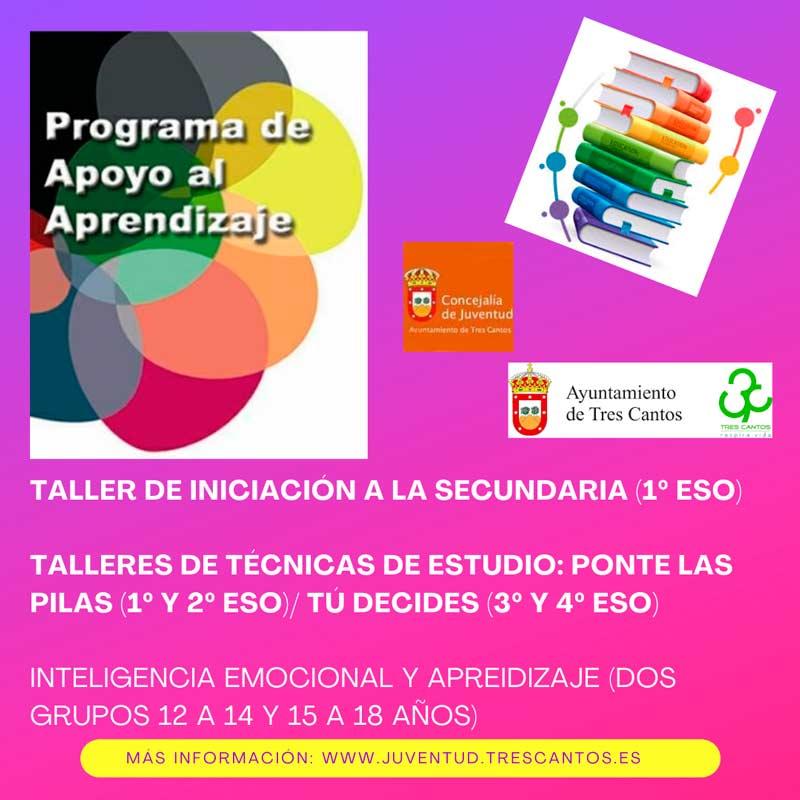 Programa apoyo al estudio jóvenes de Tres Cantos